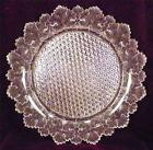Maple Leaf Round Plate Gillinder  Sons 1888 Early American Pattern Glass Clear