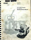 CROWN PE 4500 Series AC Traction Pallet Truck Service/Parts Manual PF15302-00C