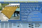 RV Awning Shade Motorhome Trailer Beige Awning Shade Complete Kit 8x20