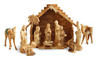 Nativity Set Deluxe Made in Bethlehem from Olive Wood Holy Land Product