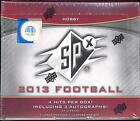 2013 Upper Deck SPx FOOTBALL Factory HOBBY 10 Pack Card Box 4 HITS 3 Autographs