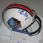 CHARLES HALEY (Cowboys, 49ers) Signed HALL OF FAME Mini-helmet w/ PSA COA