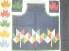 Autumn Leaves APRON Panel Quilt Sew Fabric 1 YD