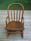 TODDLER SMALL CHILDS ANTIQUE BENTWOOD  OAK ROCKING CHAIR W/ ARMS  NICE CONDITION