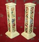 Pair of Antique Vintage Weller Candlesticks Art Pottery