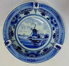 DELFTS Holland Vintage Windmill Pattern Fruit Bowl Style Ash Tray