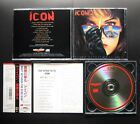 ICON Right Between The Eyes 1990 JAPAN 1ST CD w/OBI AMCY-7 RARE AOR HAIR METAL