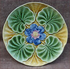 Antique Oyster Plate Majolica Wasmuel Belgium 1890