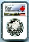 2016 50 CANADA SILVER NGC PF70 PROOF MATTE HARE RABBIT FIRST RELEASES