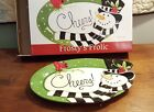 Fitz & Floyd 2010 FROSTY'S FROLIC Cheers Sentiment Serving Snack Tray In Box
