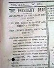President JAMES A. GARFIELD Assassination Death 1881 New York Times Newspaper