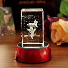 3D Laser Etched Crystal Constellation Gemini Birthday Gift Paperweight Decor