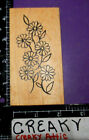 DAISIES FLOWERS BORDER RUBBER STAMP THE ARTFUL STAMPER