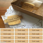 Utility Lot 80Pcs Hand Made Self Adhesive Stickers Kraft Seal Paper Label Gift