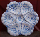 French Majolica Blue and White Oyster Plate Paul Gouze Martres Tolosane 1930