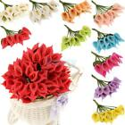 144Pcs Real Touch Artificial Flower Mini Calla Lily Wedding Home Party DIY Decor