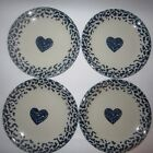 Tienshan Hearts Folk Craft 4 Salad Plates