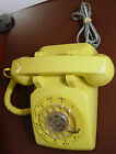 Vintage Western Electric Yellow Color Rotary Dial Telephone