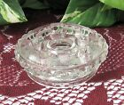 Fenton MINI ARRANGER for tapered candles (Clear Glass) Made in 1971    RARE !!!!