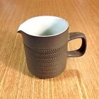 DENBY Camelot Green Chevron Pattern CREAM PITCHER Creamer  *FAST SHIP*  *EUC*