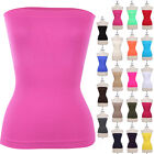 Seamless BASIC Tight LAYERING STRAPLESS Solid Tube Top Ribbed Spandex ONESIZE