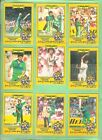 #T33. SET 1986 - 1987 SCANLENS CRICKET CARDS, CLASHES FOR THE ASHES