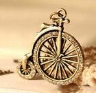 FD4110 Retro Vintage Cute Bicycle Wheel With Fashion Pendant Necklace Chain