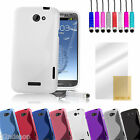 NEW GRIP S-LINE GEL CASE COVER FOR HTC ONE S/X + FREE SCREEN PROTECTOR