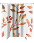 Gear New Leaves Autumn Watercolor Leaf Pattern Premium Shower Curtain