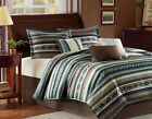 Southwest Turquoise Native American CAL King Comforter 7 Piece Bed In A Bag