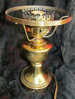 Vintage Distressed Metal Oil Table Lamp Base For GWTW Hurricane Globe Shade