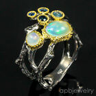 Unique Jewelry Natural Opal 925 Sterling Silver Ring Size 8.75/R56544