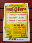 Vintage Surfer movie surf poster surfboard Don Brown surfboard two sided nice