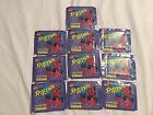 1995 Spider-Man Marvel 10 Collectible Stickers Packs Panini RARE