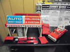 Vintage Topper 1968 Johnny Service Body Shop With Tow Truck and Wreck Complete