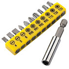 TRIXES 10 Piece Screwdriver Bit Set with Drill Adapter