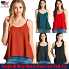 NEW Women Basic Spaghetti Strap Blouse Sleeveless Tank Top Size S/M/L/XL/1XL/2XL