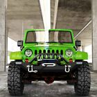 Black Front Bumper w Winch Plate  D Rings for 87 06 Jeep Wrangler TJ YJ