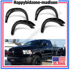 FENDER FLARES POCKET RIVET BOLT STYLE FOR DODGE RAM 1500 BLACK TEXTURED 2009-16