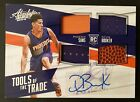 Devin Booker 2015-16 Panini Absolute Auto Jersey Patch Ball Quad # 99 Rookie RC