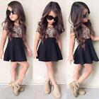 Baby Kid Girls Leopard Mini Short Skirt Dress Party Casual Clothes 2 9 Years US