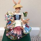 FITZ AND FLOYD OLD WORLD RABBIT MUSIC BOX
