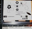 STAMPIN UP FRIENDSHIP BLOOMS 5 RUBBER STAMPS FLOWERS