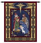 RELIGIOUS STAR OF BETHLEHEM NATIVITY CHRISTMAS SCENE TAPESTRY WALL HANGING 26x32