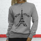 Vacation Travel Tourist City France Paris Tower Proud Womens Gray Sweatshirt