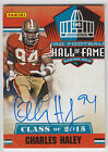 CHARLES HALEY 2016 Panini National NSCC VIP Gold Pack Hall of Fame AUTO N16C