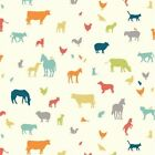 Birch 100% Organic Fabrics - Farm Fresh FF 01 Farm Friends BTY