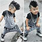 2PCS Hot Sale Toddler Baby Boys T Shirt Tops + Pants Set Newborn Clothes Outfits
