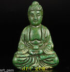 Oriental Vintage Collection Old Hand Green Jade Buddha Statue Decorations