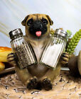 Adorable Hugging Pug Dog Decorative Glass Salt Pepper Shakers Holder Figurine